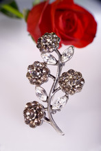 Brooch With Roses