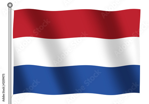 Canvas Print dutch flag