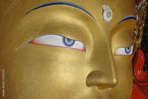 Fotomural buddha statue at thikse monastery