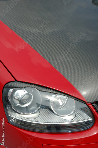 Photo  racing car headlight