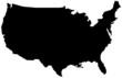 black map usa