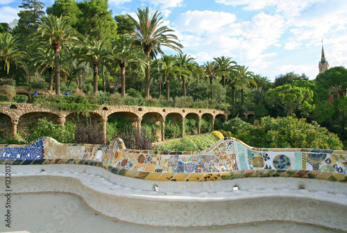 Tuinposter Barcelona guell park. barcelona, spain.
