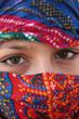 canvas print picture - arabische augen 2