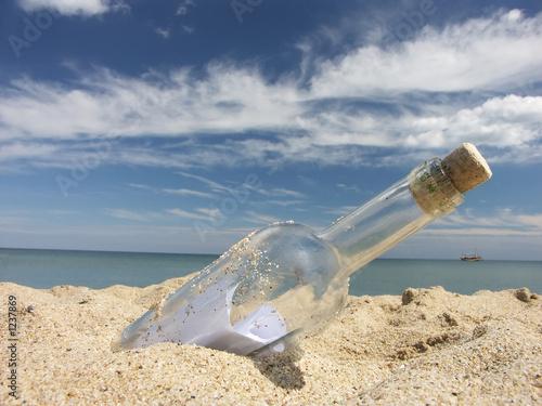 Fotografie, Obraz  message in the bottle