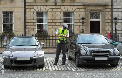 Wallpaper Mural parking attendant, traffic warden, getting ticket