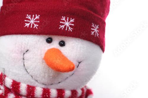 Photo  happy snowman