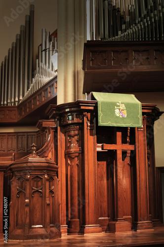 Fotografie, Obraz  church pulpit