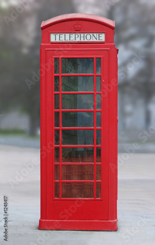 Fotografie, Obraz  red london phone booth