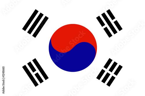Fototapeta premium flaga korei południowej