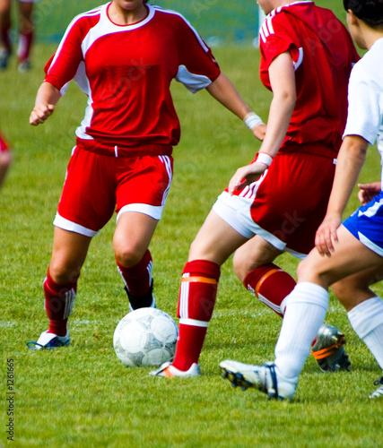 Photo  soccer girls