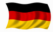 Leinwandbild Motiv deutschland fahne