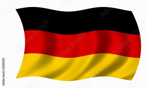 Fotografie, Obraz  deutschland fahne