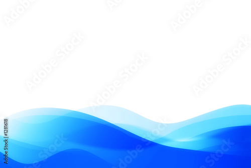 Photo Stands Fractal waves abstract background (great for any design)
