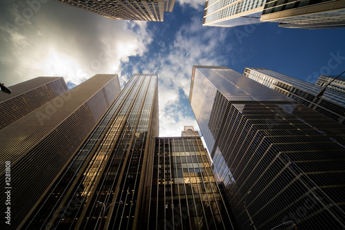 manhattan skyscrapers horizontal Poster