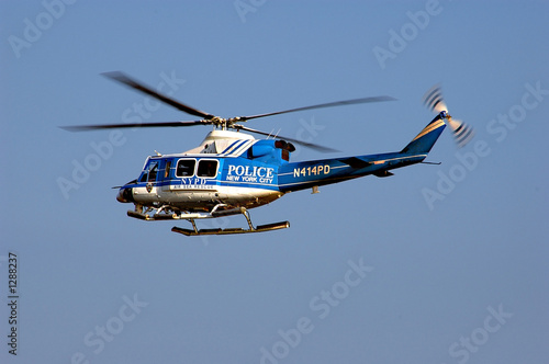 Tuinposter Helicopter nypd helicopter