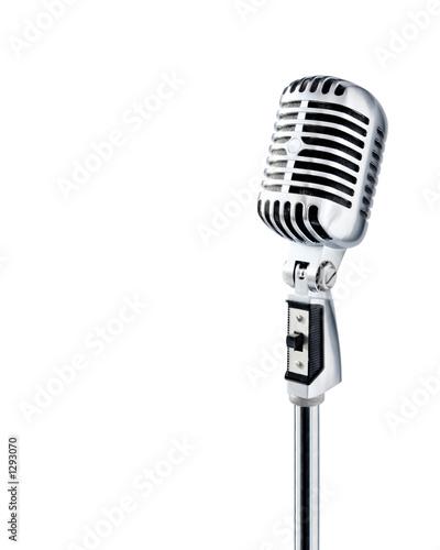 Fotografie, Obraz  professional ''retro'' microphone