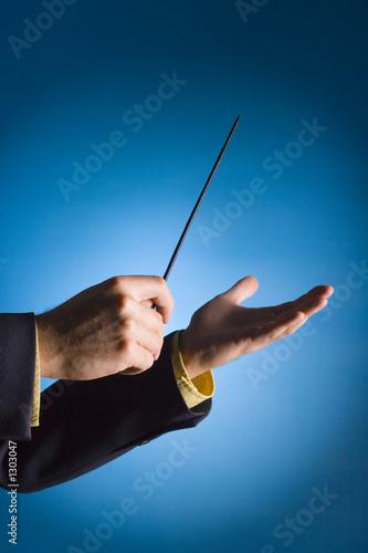 Fotografiet  conductor's hands