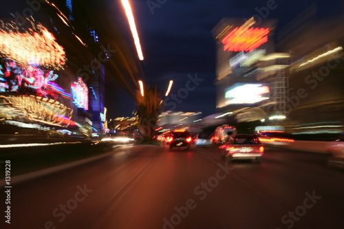 Deurstickers Las Vegas strip at night