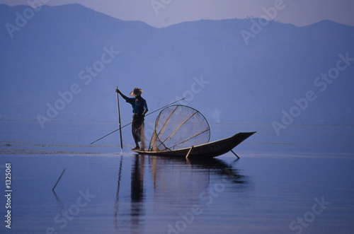 Photo pecheur, lac inle