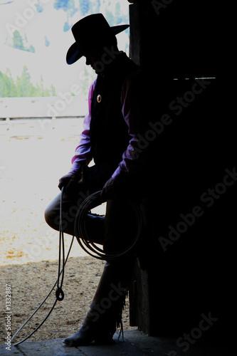 Fotografie, Obraz  cowboy in profile