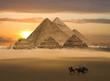 Leinwandbild Motiv pyramids fantasy