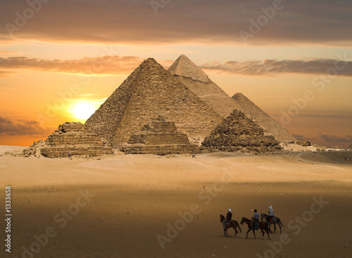 Photo Stands Egypt pyramids fantasy