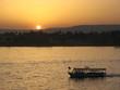 canvas print picture egypte (nil) - coucher de soleil