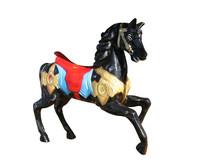 Carousel Black Horse