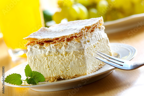 Photo cream and custard pastry