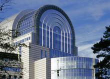 Eu Parliament Building Brussel...