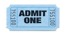 Admit One Ticket (light Blue)
