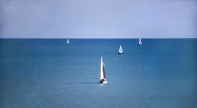 Sailboats On Lake Huron