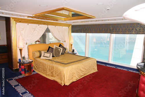 bedroom at burj al arab Wallpaper Mural
