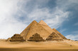 canvas print picture the great pyramids