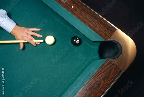 Carta da parati shooting the 8 ball to win