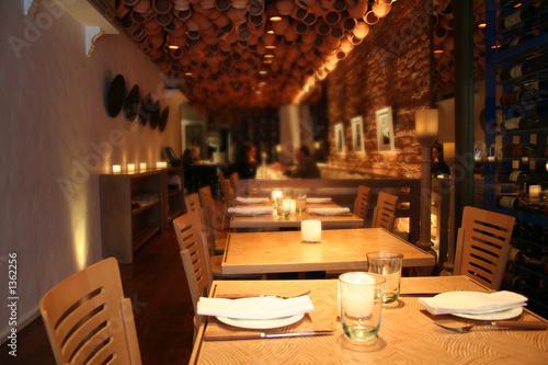 Fotobehang Restaurant empty restaurant