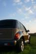 car and dusk
