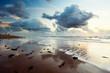 Leinwandbild Motiv sunset and ocean