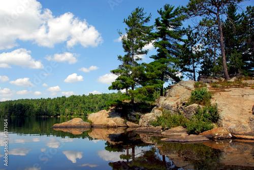 Photo scenic lake