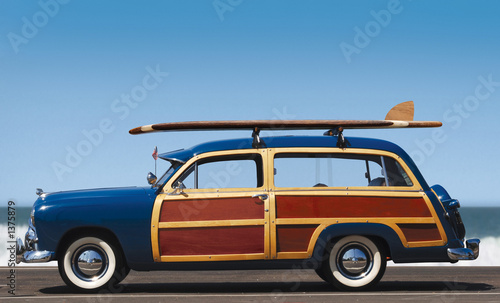 In de dag Vintage cars woody-profile