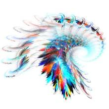 Rainbow Feathers