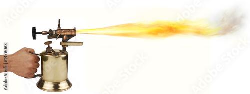 blow torch Canvas Print