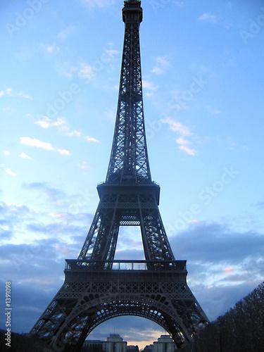 Fototapety, obrazy: tour eiffel le soir