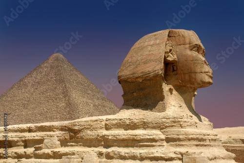 Foto-Kassettenrollo premium - sphinx and pyramid