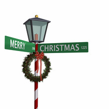 Merry Christmas Street Sign 3