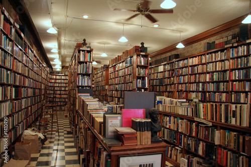 Poster Bibliotheque antiquarian bookstore