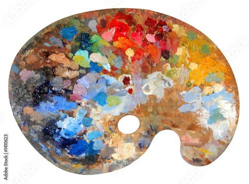 artist's palette Fototapeta