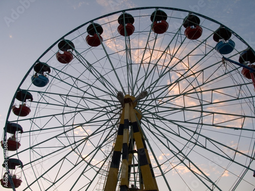 Foto op Canvas Texas silhouette of wheel (attraction)