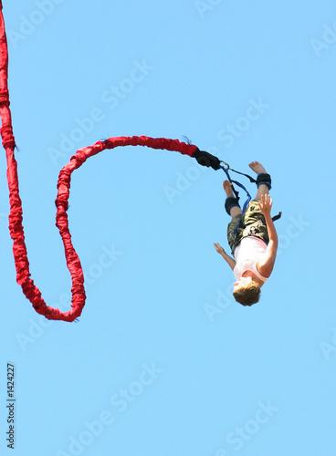 Fotomural bungee jumper