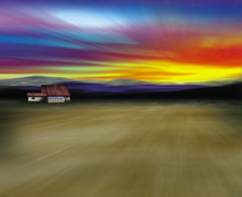 Barn In Desert